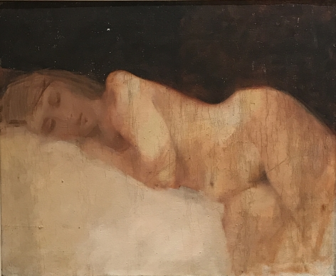 """Jack Martin Rogers. Reclining Nude. 1964. Oil on canvas. 24 3/8"""" x 29"""" 