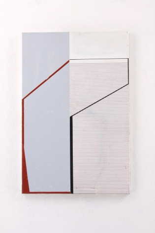 "Gordon Moore. Concurrent. 2018. acrylic, latex and pumice on canvas. 30"" x 20"" at Anita Rogers Gallery"