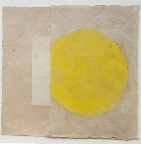"Kazimira Rachfal's  'squaring the circle', series I, #1 (Oil on paper. 5 1/2"" x 6"") at Anita Rogers Gallery"