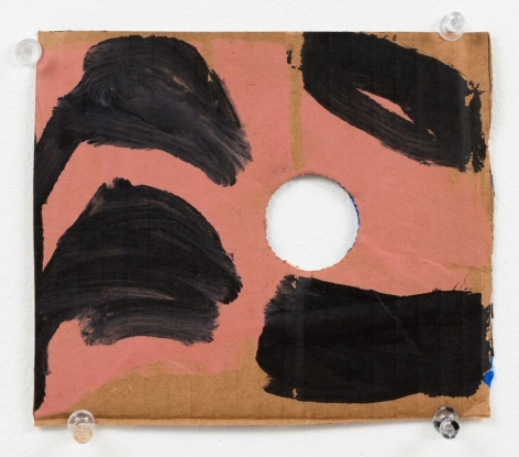 "Virva Hinnemo's Silver Soup (Acrylic on cardboard, 5 1/2"" x 6 5/8"") at Anita Rogers Gallery"
