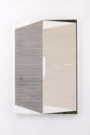 "Gordon Moore. Duct. 2018. acrylic, latex and pumice on canvas. 30"" x 20"" at Anita Rogers Gallery"