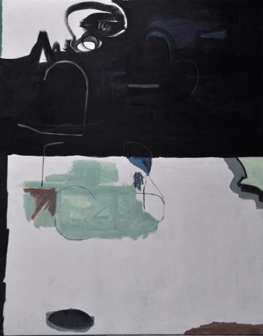 """Tristan Barlow's Eye  (2015. Oil on Linen. 75"""" x 59"""")"""
