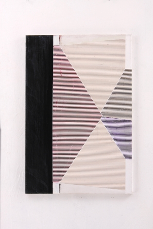 "Gordon Moore. Tip. 2018. acrylic, latex and pumice on canvas. 30"" x 20"" at Anita Rogers Gallery"