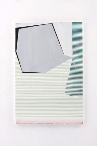 "Gordon Moore. Untitled. 2018. acrylic, latex and pumice on canvas. 30"" x 20"" at Anita Rogers Gallery"