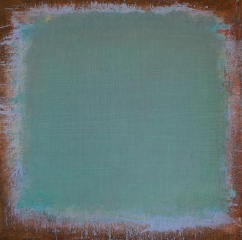 "John Ashworth. Untitled. 2015. Acrylic on prepared panel. 24"" x 24"" at Anita Rogers Gallery"
