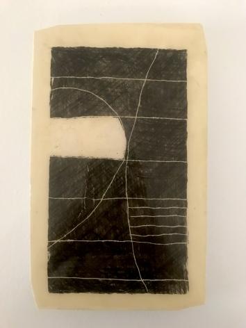 "Mark Webber. Plaster Drawing 6. Plaster. 2017. 9 1/4"" x 5 5/8""| Anita Rogers Gallery"