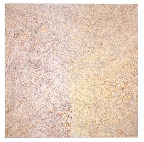 "Francesco Polenghi, Awaiting Ecstasy, 2011, oil on canvas, 78 94/127"" x 78 94/127"" at Anita Rogers Gallery"