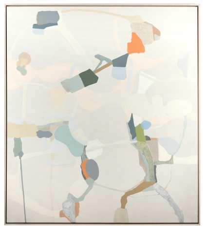 """Carrie Johnson's Untitled. (2005. Oil on canvas.  68"""" x 60"""") at Anita Rogers Gallery"""
