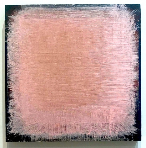 "John Ashworth. Untitled. 2018.  Acrylic on paper mounted on panel. 19 1/4"" x 19 1/4"""