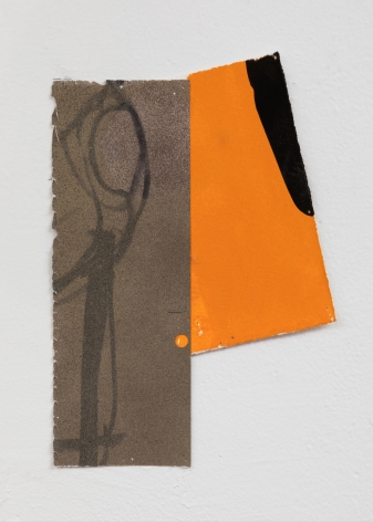 "George Negroponte. Marriage (made with Virva Hinnemo). 2006, 2018. Gouache and Spray Paint on Paper. 9"" x 6"" at Anita Rogers Gallery"