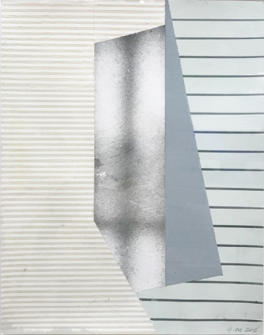 "Gordon Moore. Flap. 2018. water based medium on photo-emulsion paper. 14"" x 11"" at Anita Rogers Gallery"