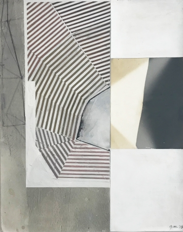 """Gordon Moore. Untitled. 2018. Ink & paint on photo emulsion paper. 14"""" x 11"""" at Anita Rogers Gallery"""