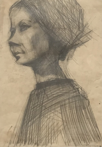 "Jack Martin Rogers. Pencil Portrait. 1962. Pencil on paper. 19 1/2"" x 13 3/4"" 