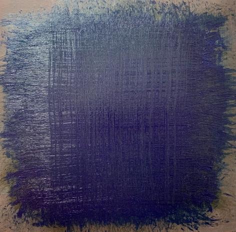 "John Ashworth. Untitled. 2018. Acrylic on paper mounted on panel. 18"" x 18"""