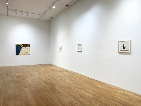 Installation view of Anas Albraehe and Mahreen Zuberi (2021). Anita Rogers Gallery