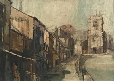 "Jack Martin Rogers. Warwick. 1965. Oil on canvas. 21 3/4"" x 29 1/2"" | Anita Rogers Gallery"