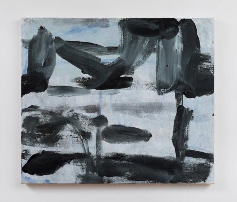 """Virva Hinnemo. Four Feet. 2017. Acrylic on canvas. 24"""" x 28"""""""