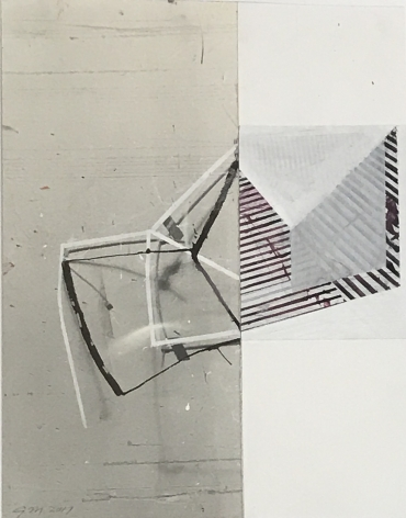 "Gordon Moore. Untitled. 2012. Ink and gouache on photo emulsion paper. 13.5"" x 11"""