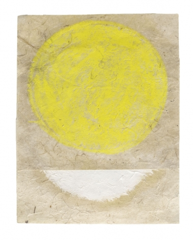 "Kazimira Rachfal's 'squaring the circle', series I, #2 (Oil on paper. 6"" x 4 1/2"") at Anita Rogers Gallery"
