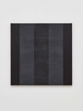 Mary Corse Untitled (Black Inner Band with Black Sides), 1998