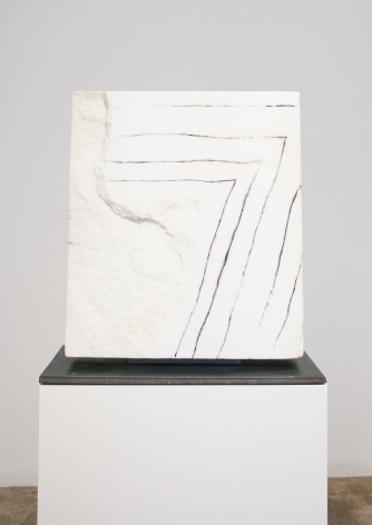 Beverly Pepper, Etched Pentimento (Bianco Assoluto di Carrara), 2007