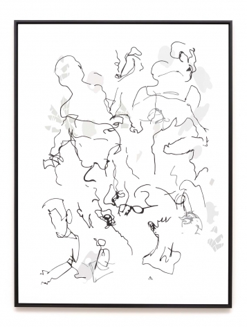 Michael Bell-Smith, Contour Crowd #2, 2016