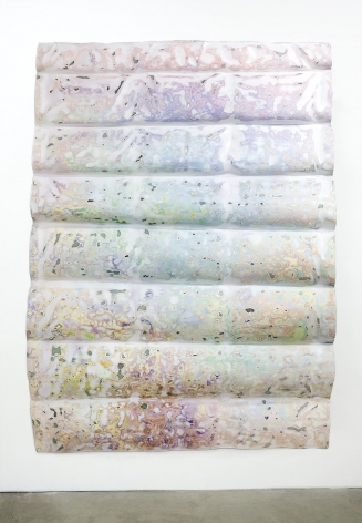 Rosha Yaghmai,  Smoke Screen (white awning), 2016