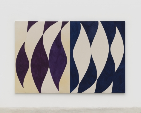 Sarah Crowner, Turning Blue and Aubergine, 2021