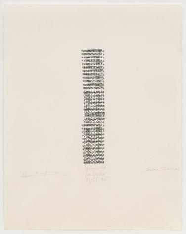 Henri Chopin, Monument for Dada, 1985