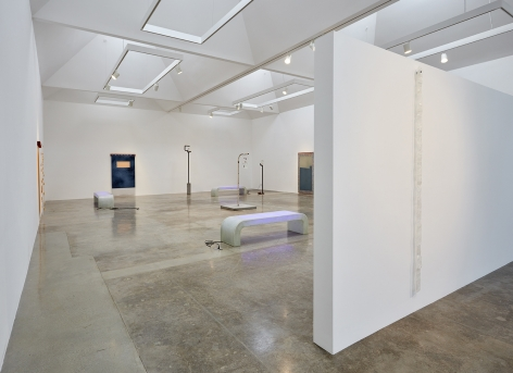 """Installation view of """"Rosha Yaghmai: The Courtyard"""" at Kayne Griffin Corcoran, Los Angeles"""