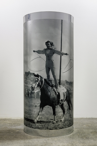 Servane Mary, Untitled (Woman on a Horse with Lassos), 2015