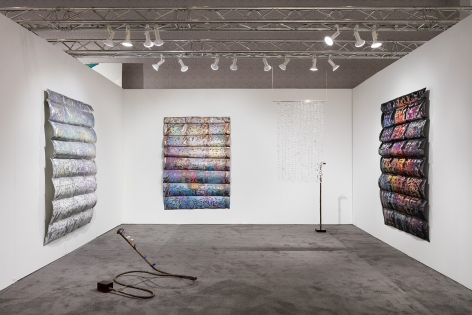 Installation view of Rosha Yaghmai at NADA Miami Beach