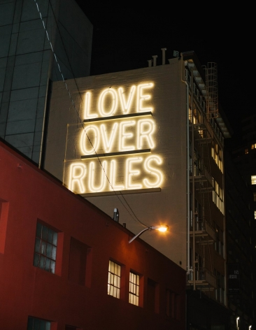 Hank Willis Thomas Love Over Rules, 2017