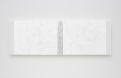 Mary Corse Untitled (White Narrow Inner Band with White Sides, Beveled), 2020
