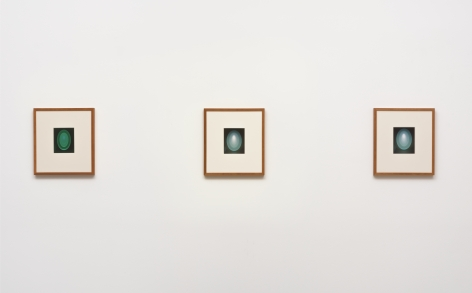From the Guggenheim, Set 1, Green, Large Vertical, 2015, Unique archival in jet, artist designed frame