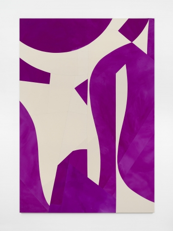 Sarah Crowner Standing and Hanging Forms, Violet, 2019
