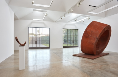"Installation view of ""Beverly Pepper: Selected Works 1968 - 2015"" at Kayne Griffin Corcoran, Los Angeles."