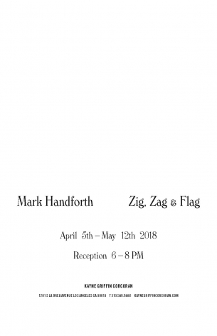 Mark Handforth exhibition announcement at Kayne Griffin Corcoran