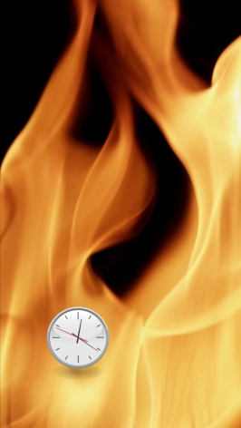Michel Bell Smith, Flames Clock (Up)
