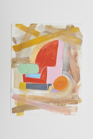 Peter Shire, I Saw The Bel-Air Chair On Gold 3, 1981-2017