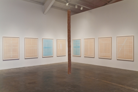 Installation view of Giulia Piscitelli at Kayne Griffin Corcoran, Los Angeles