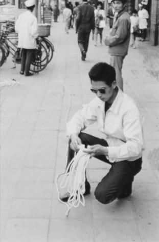 Jiro Takamatsu, Jiro Takamatsu's performance with 'string' in The 6th Mixer Plan., 1963