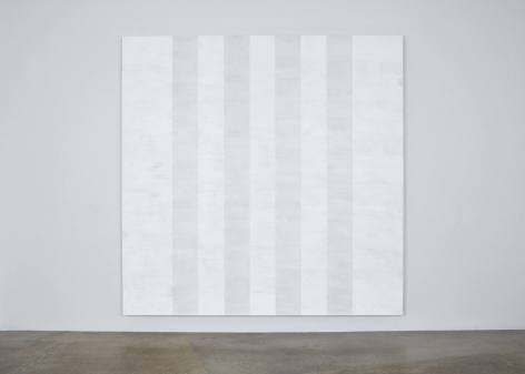 Mary Corse, Untitled (White Multiband, Beveled), 2011