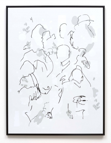 Michael Bell-Smith, Contour Crowd #1, 2016