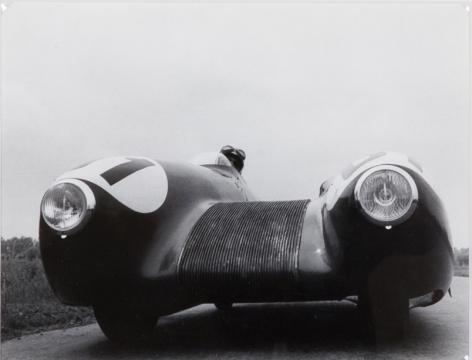 Elirio Invernizzi, Mollino aux commandes du «Bisiluro Nardi», 1955.