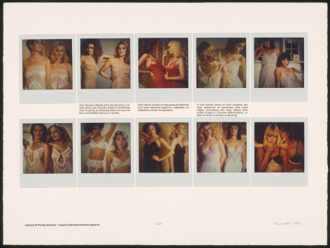 Heinecken, Lessons in Posing Subjects / Lingerie (Identical Intimate Apparel)