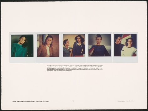 Heinecken, Lessons in Posing Subjects / Differentiation By Facial Characteristics, 1981