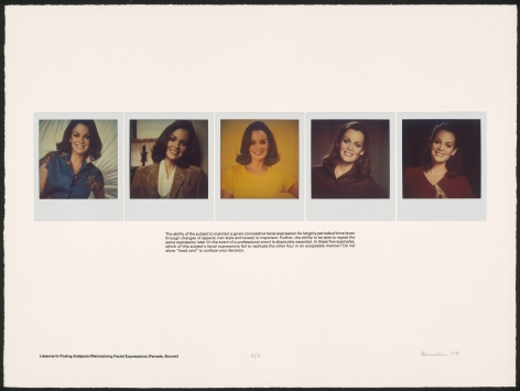 Heinecken, Lessons in Posing Subjects / Maintaining Facial Expressions (Female, Brunet), 1981