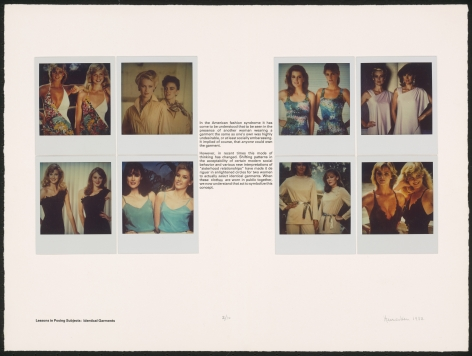 Heinecken, Lessons in Posing Subjects : Identical Garments, 1981