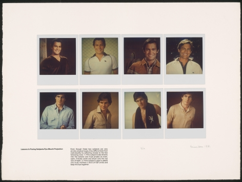Heinecken, Lessons in Posing Subjects / Eye-Mouth-Projection, 1981